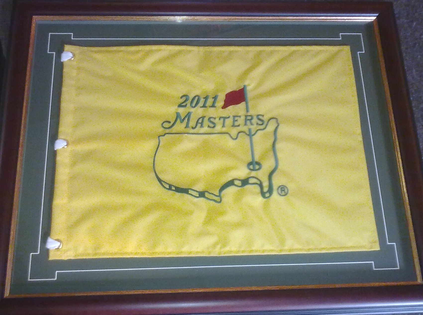 Framed 2011-masters-pin-flag