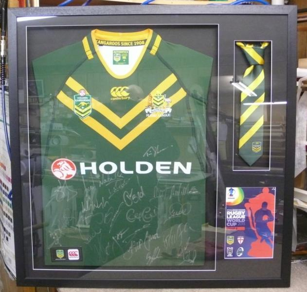 Box Frame with Jersey, Tie and Program