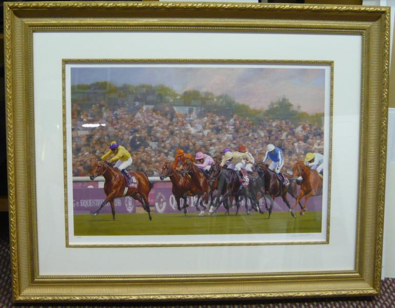 Framed Horse Racing Print