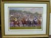 Framed Horse Racing Print