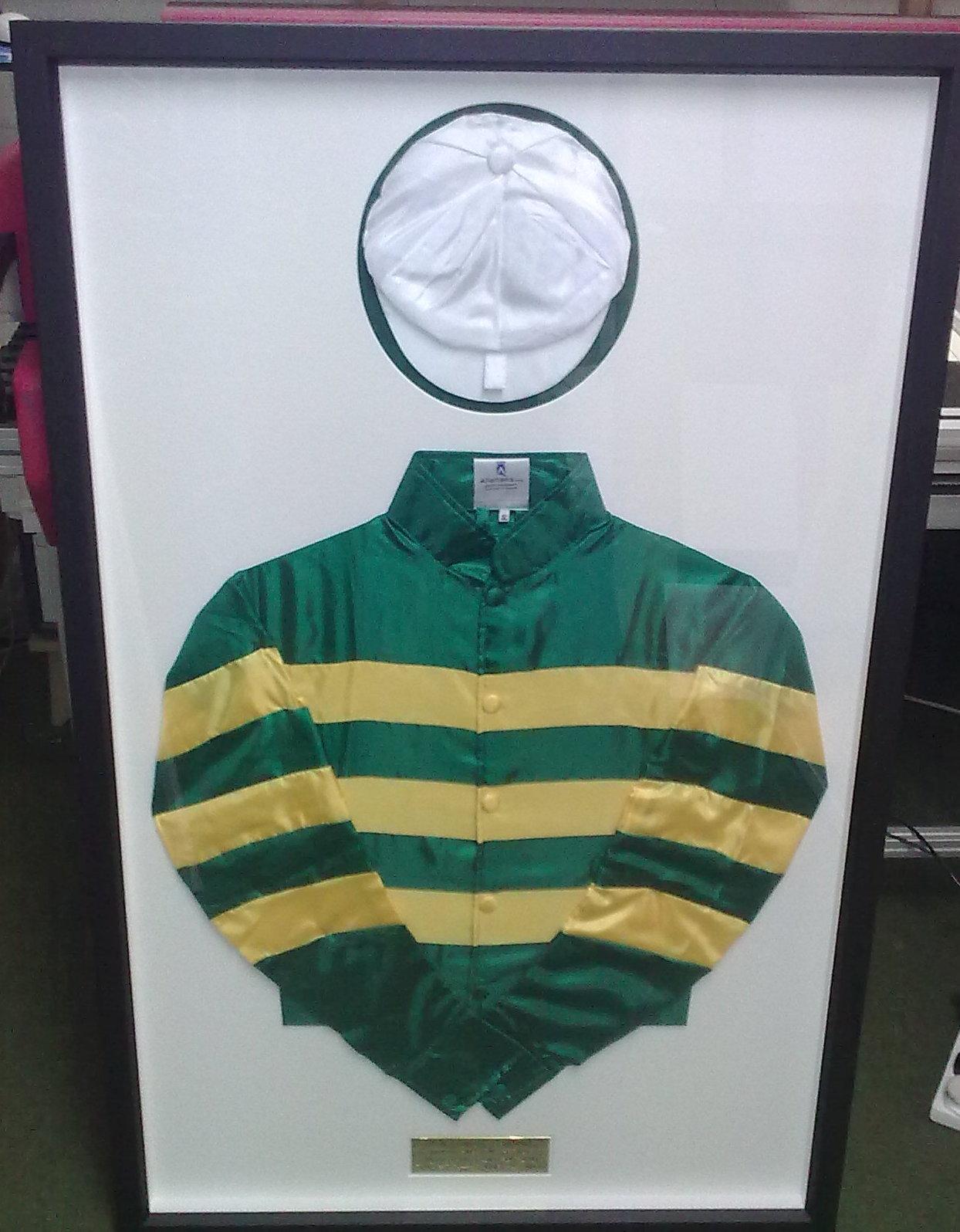 Framed Jockey silk