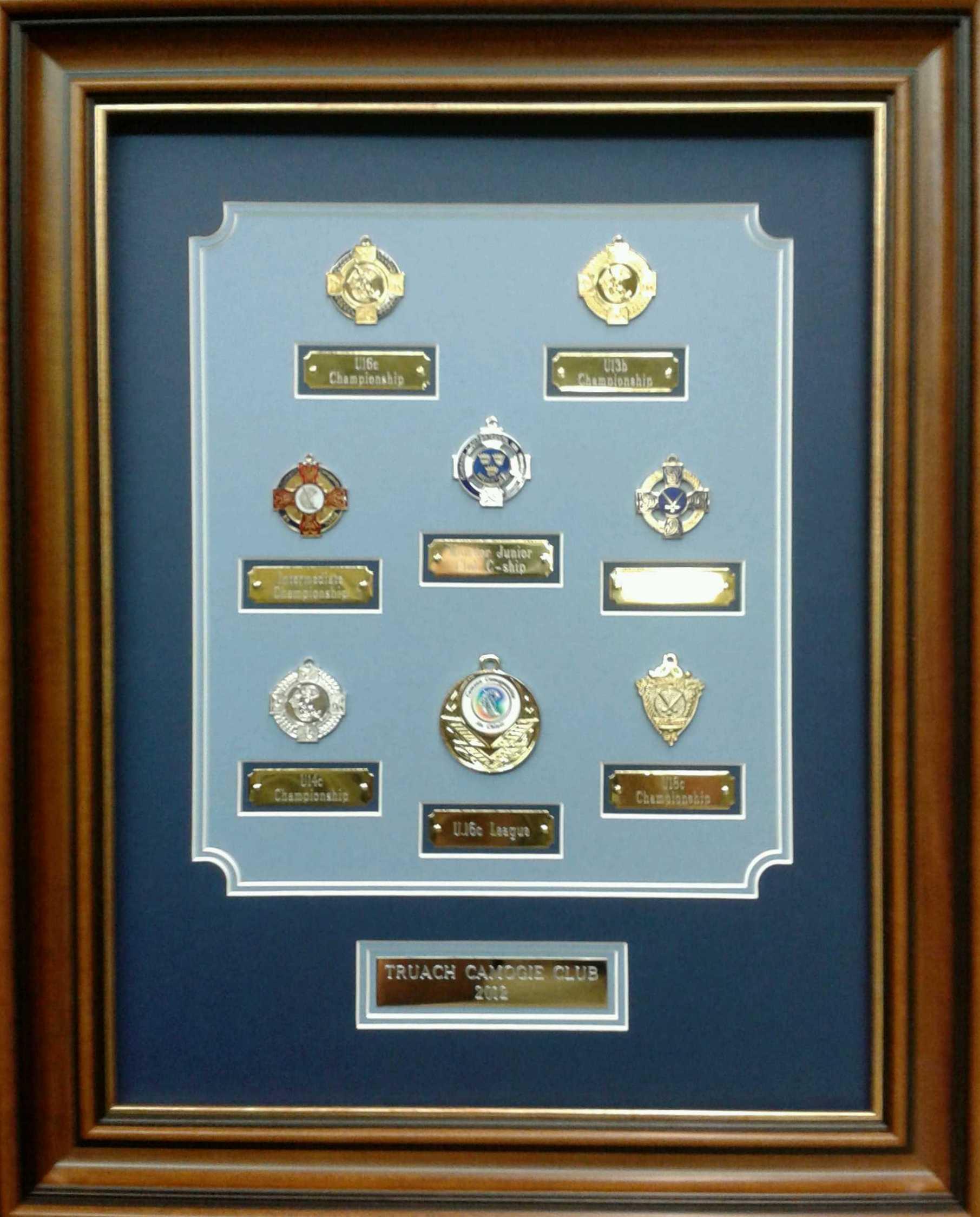 Framed GAA Medals