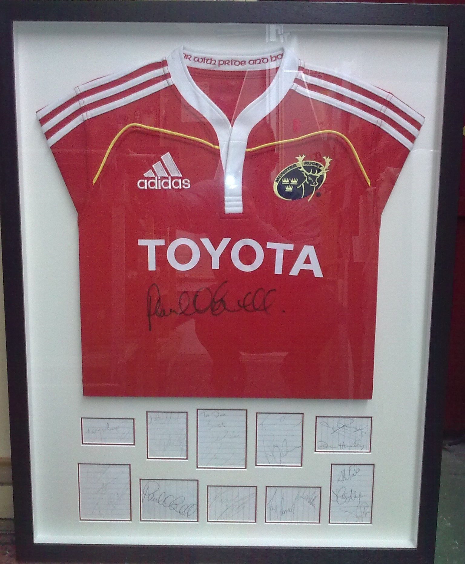 framed rugby munster jersey framed sports memorabilia framing ideas