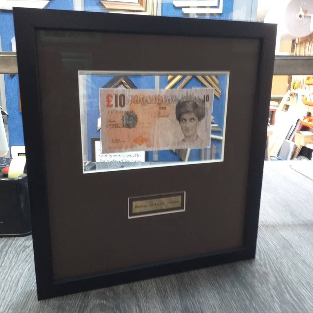 Framed Bansky £10 note