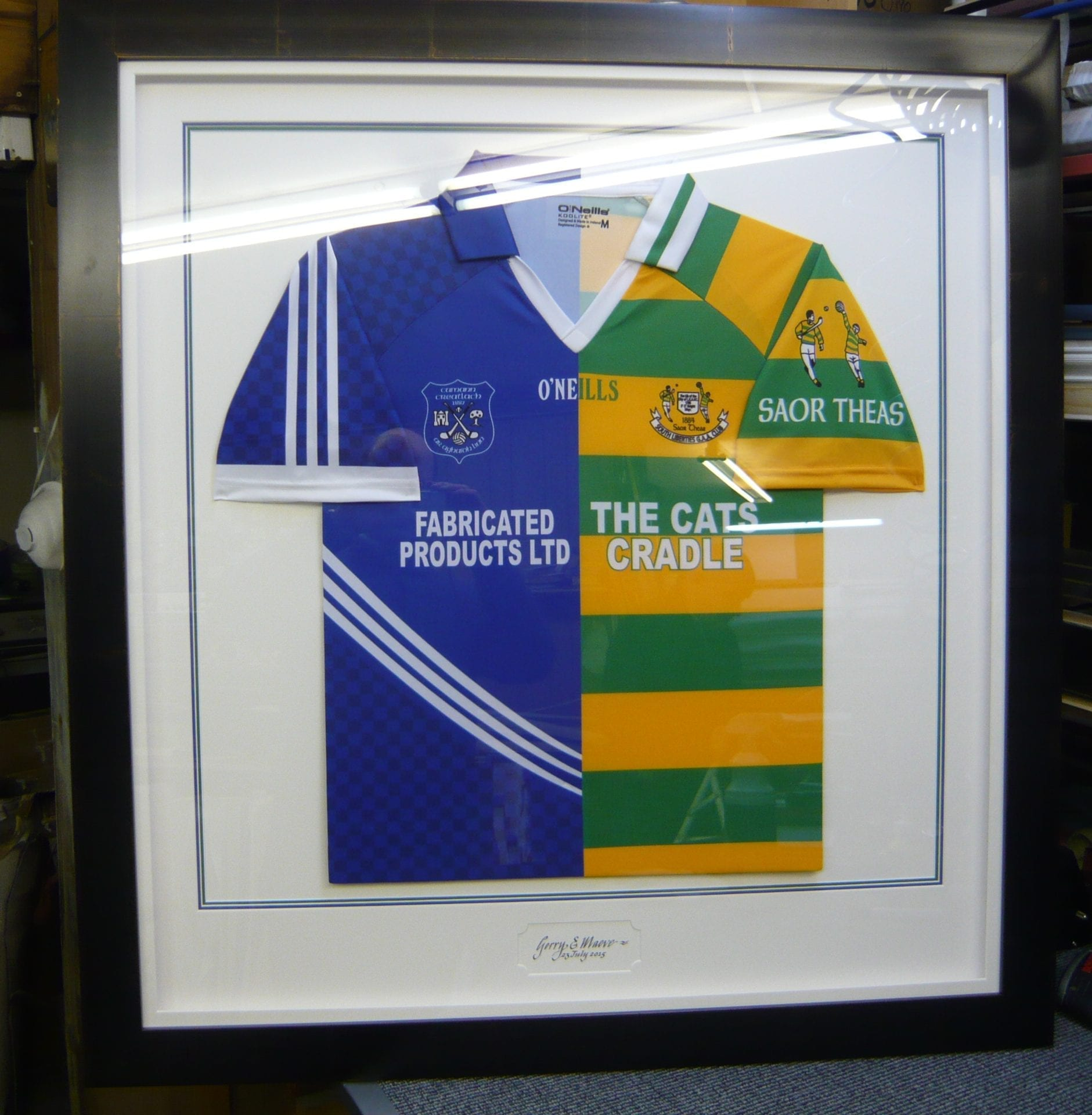 framed jersey in classic frame