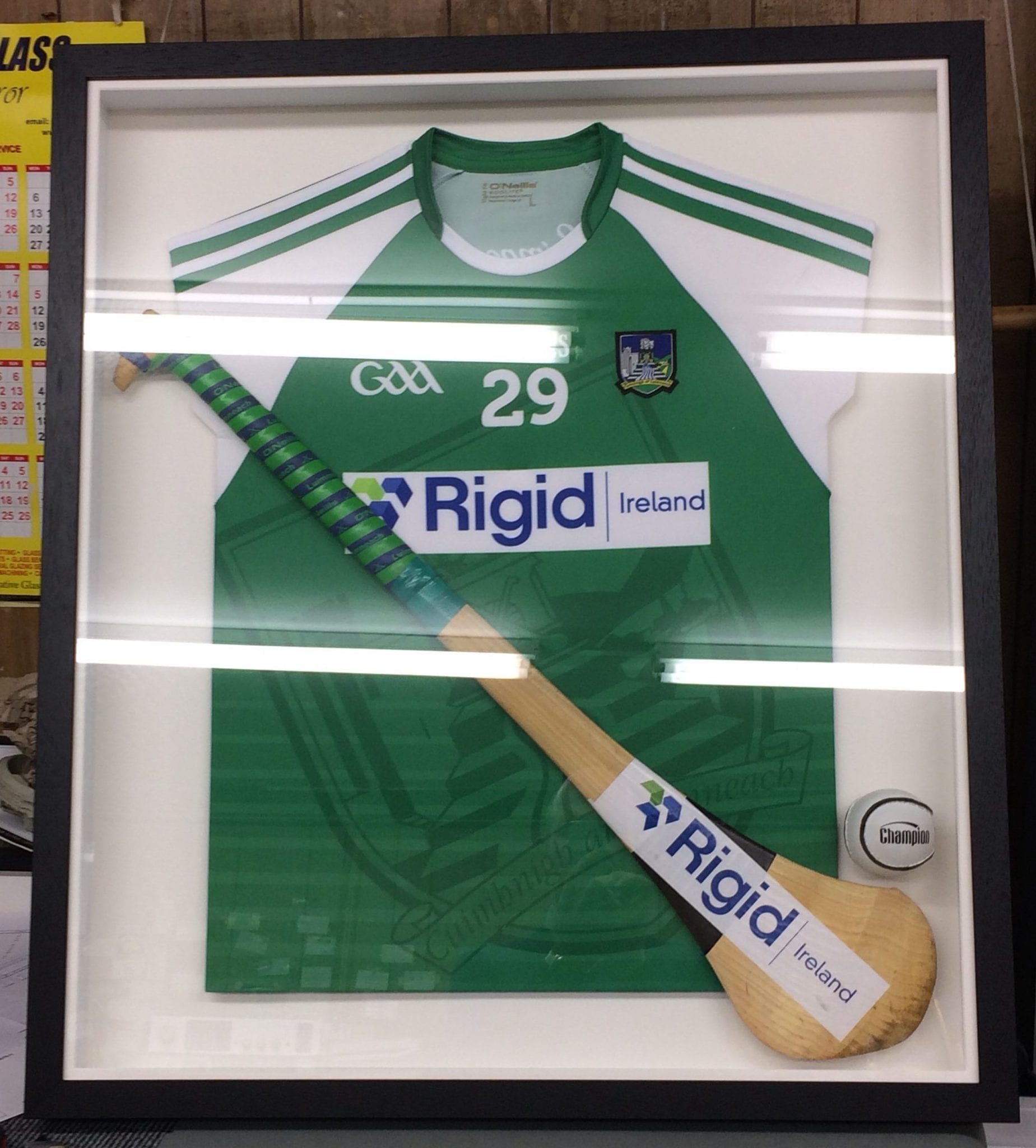 framed jersey with hurley
