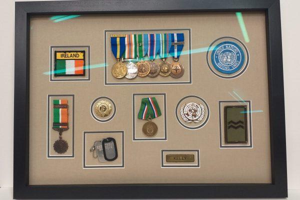framed military